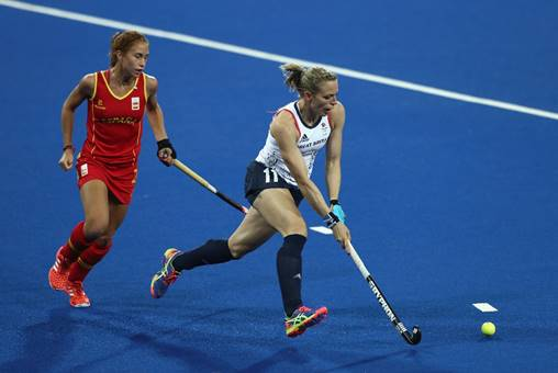 Kate Richardson-Walsh competing at the Rio 2016 Olympic Games