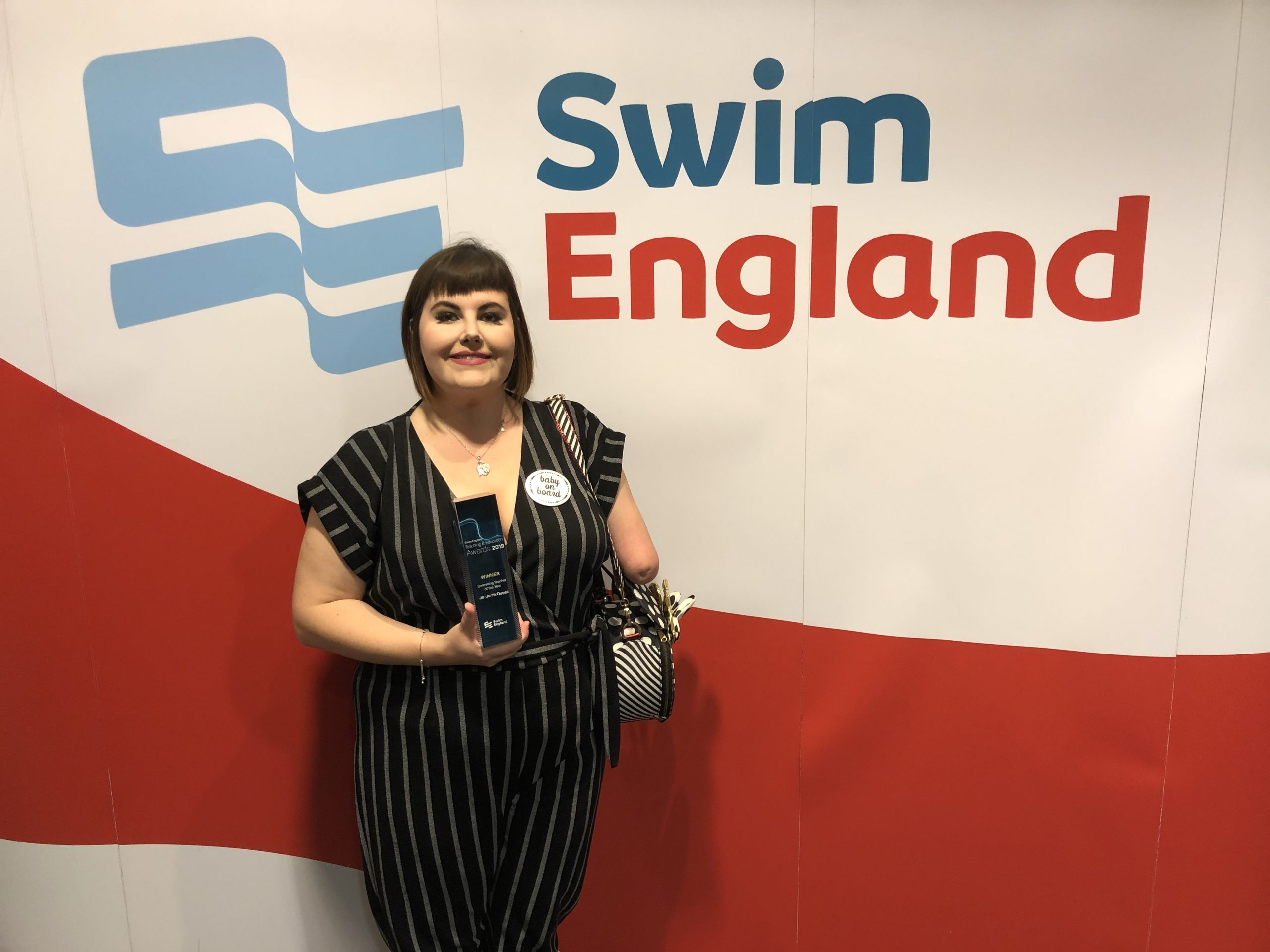 COURAGEOUS CLEMENTS HALL SWIM TEACHER WINS 'SWIMMING TEACHER OF THE YEAR' AWARD