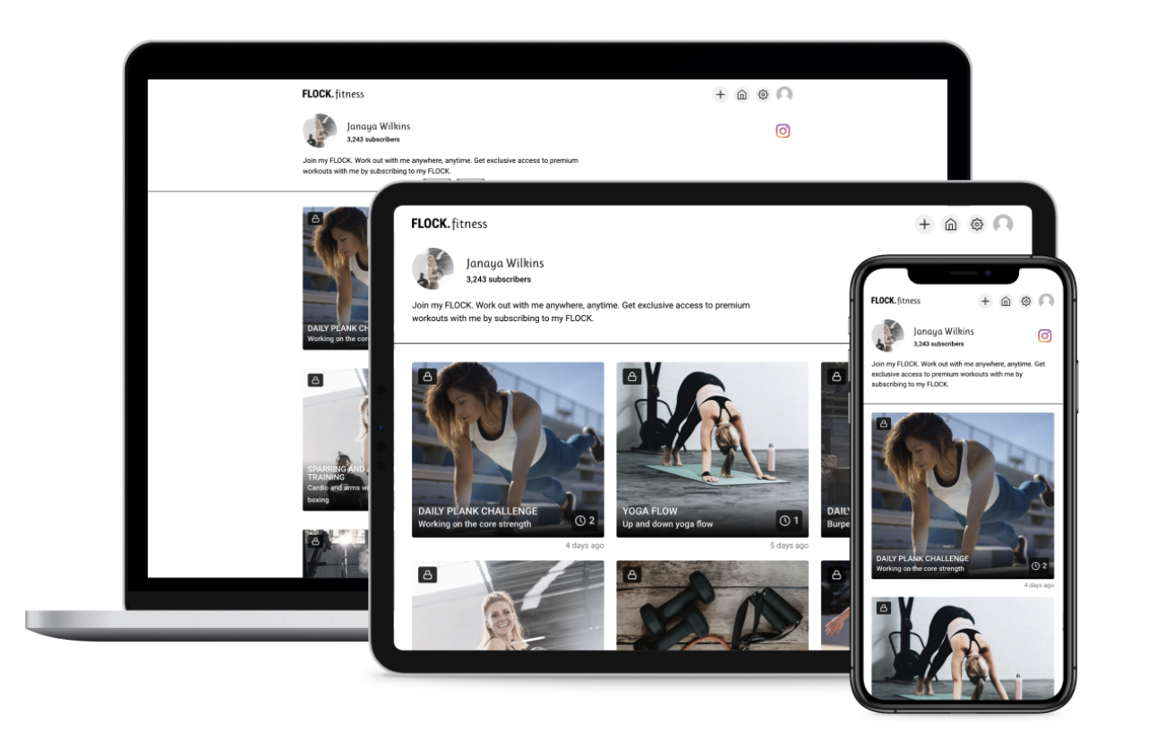 FLOCK.fitness: The world's first fitness platform for Creators to get Subscribers & get Paid